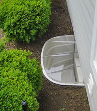 basement egress window well in White Plains