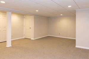 A complete finished basement system in a Holyoke home