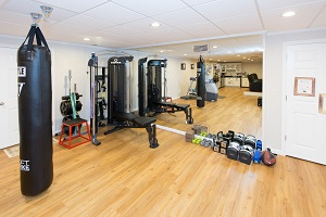 Installation of a basement gym in Stamford