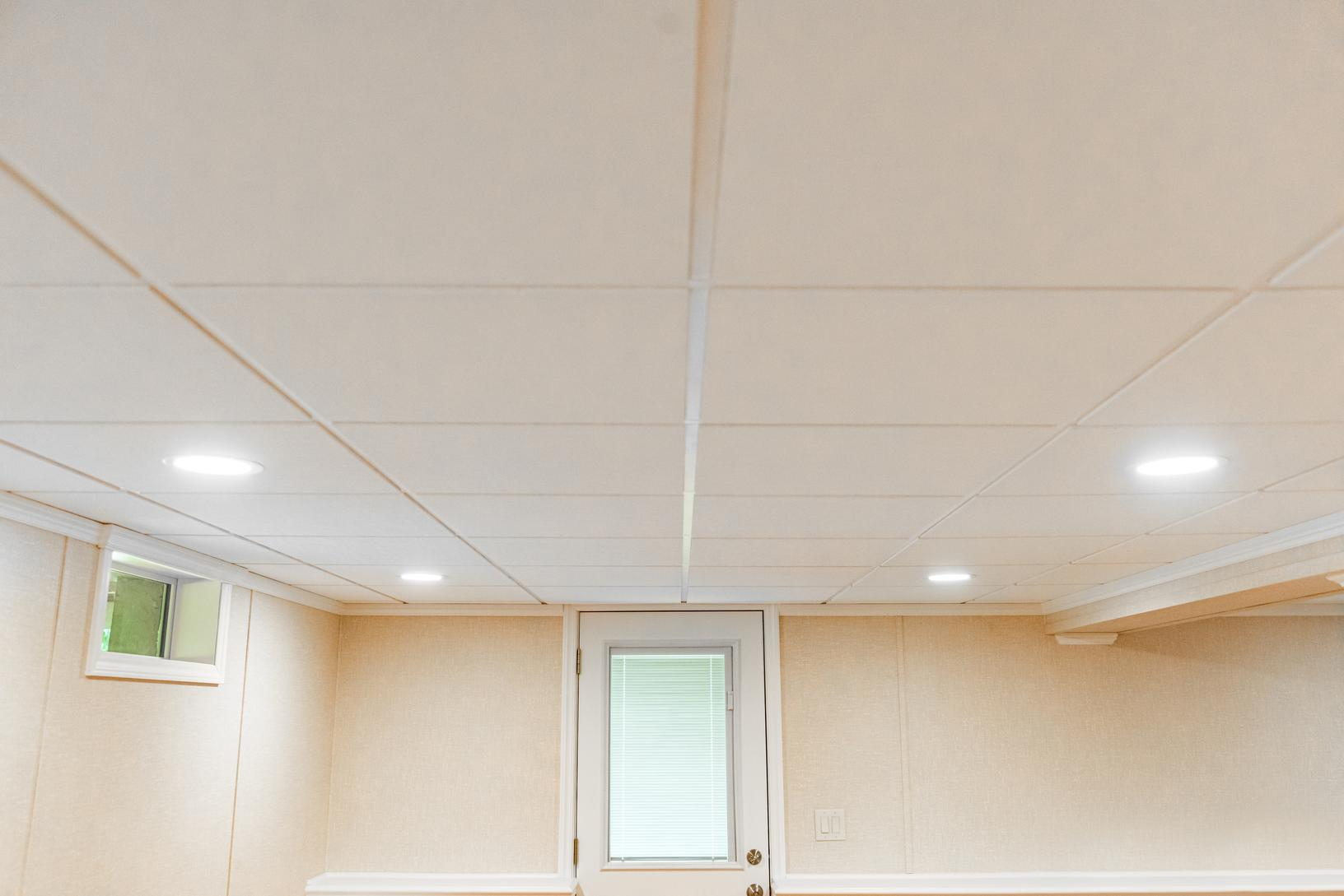 Basement Ceiling Tiles for a project we worked on in White Plains, Connecticut, New York and Massachusetts