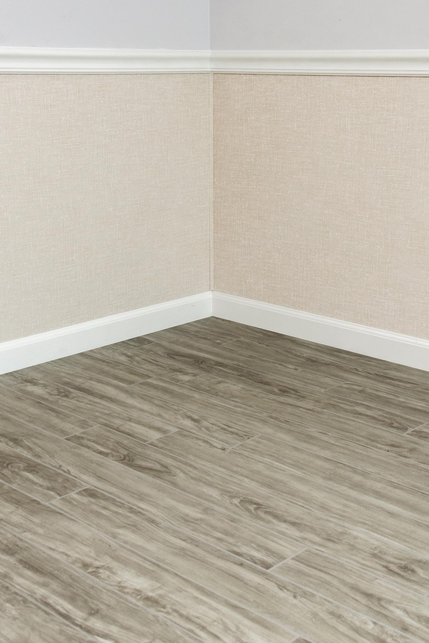Beautifully Finished Gray Wooden Floor